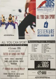Dimensione Dello Sport: All you can sport