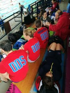 La squadra in un momento di forte concentrazione pre gara...