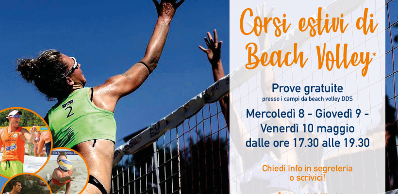 Corsi estivi Beach Volley in DDS